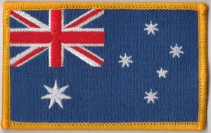 Australia Embroidered Flag Patch, style 08.